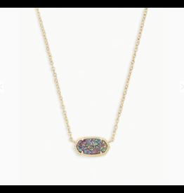 Kendra Scott Necklace Elisa Gold Multi Drusy
