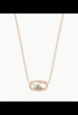 Kendra Scott Necklace Elisa RSG Dichroic Glass
