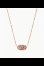 Kendra Scott Necklace Elisa RSG Rose Gold Drusy