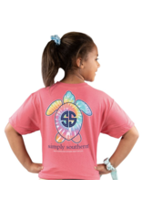 Simply Southern Adult SS Tee Logomult Begonia