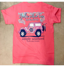 Simply Southern Adult SS Tee Fall Begonia
