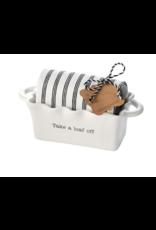 Mud Pie Mini Loaf Take Circa w/ Towel