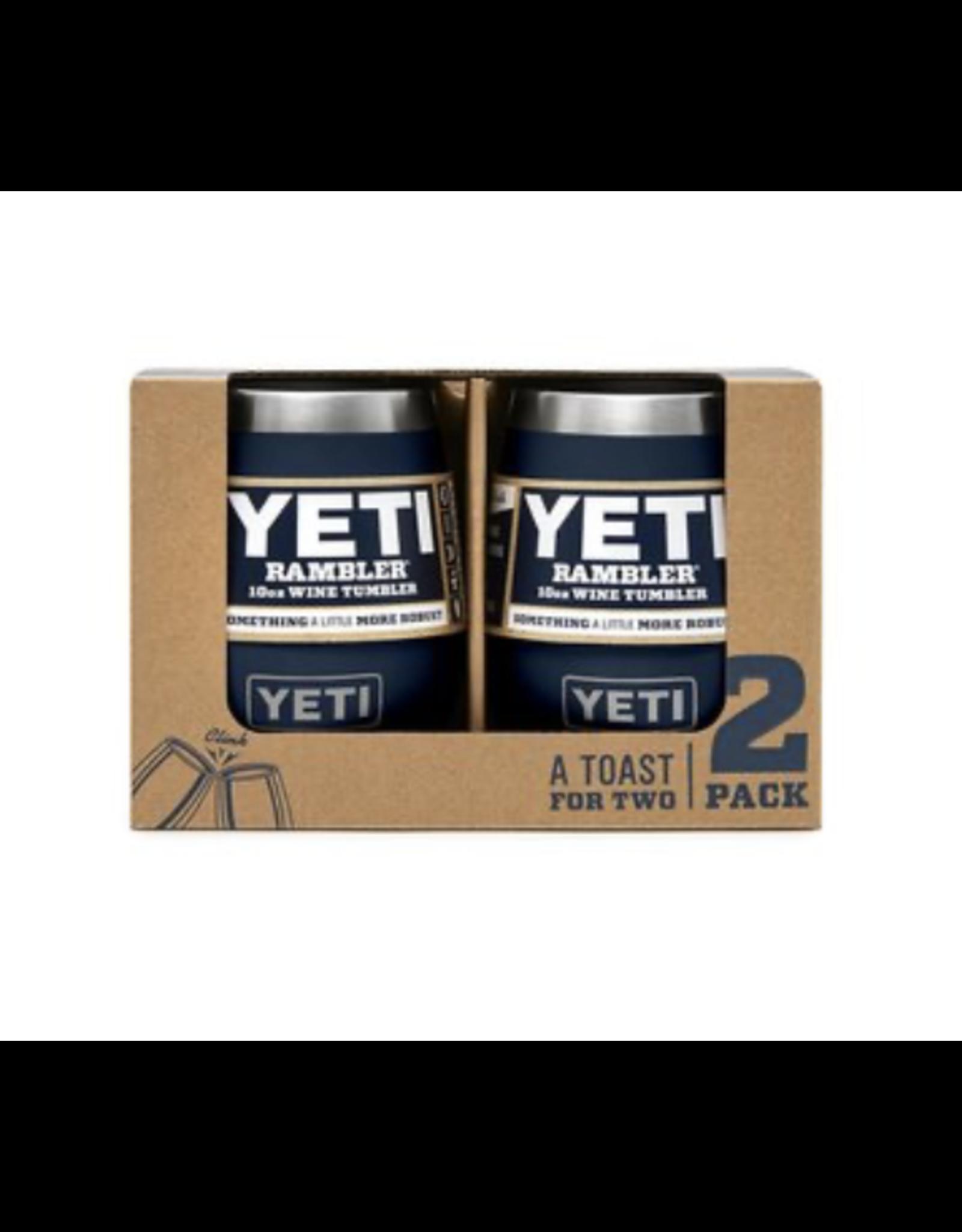 Yeti Rambler 10 Navy Wine 2 Pack