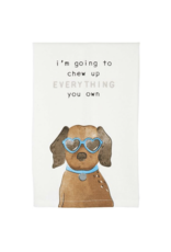 Mud Pie Towel Dog I'm Going To Chew Everything