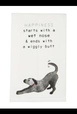 Mud Pie Towel Dog Happiness Starts