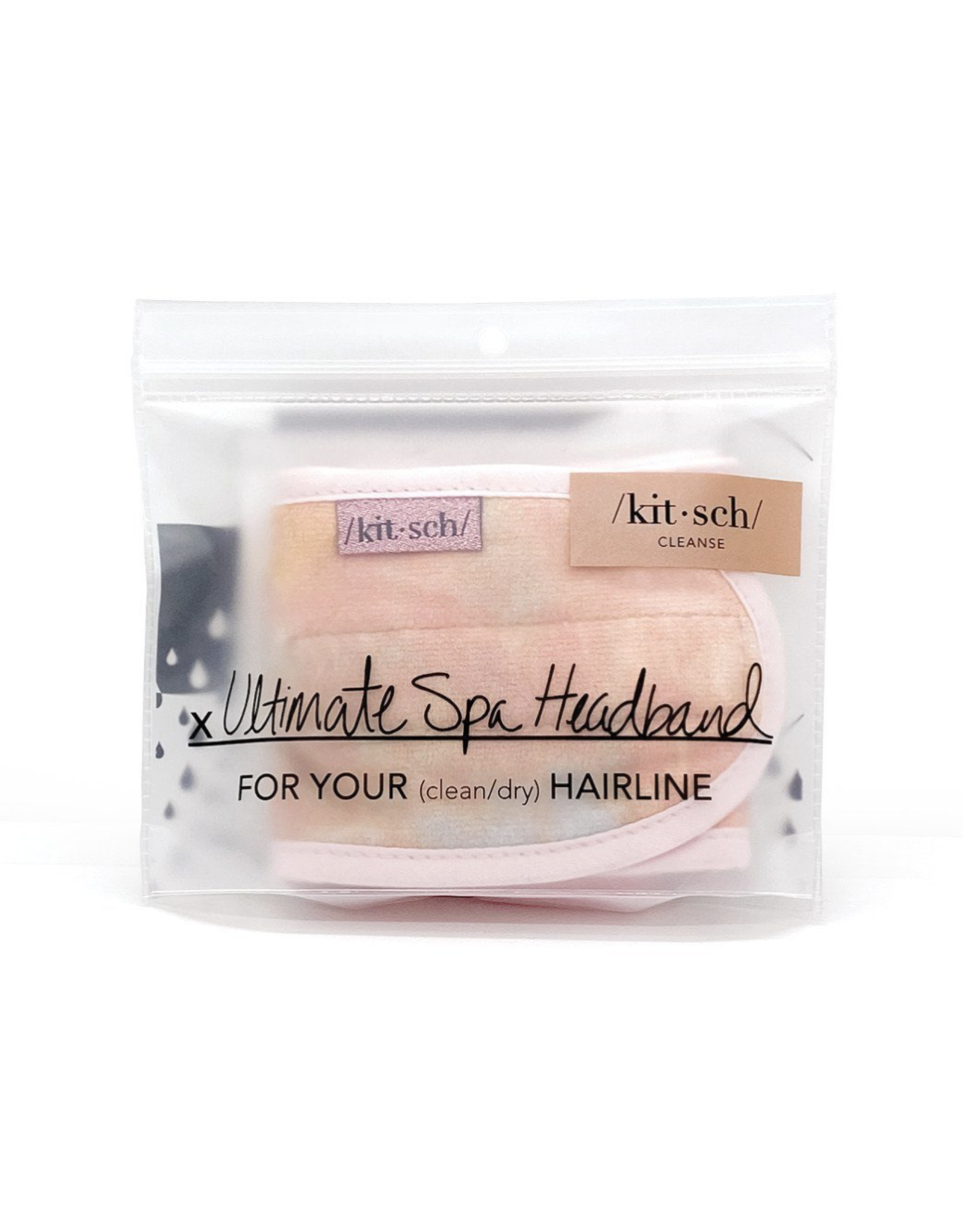 Kitsch Microfiber Spa Headband Sunset Tie Dye