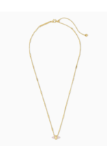 Kendra Scott Necklace Jamie Short Pendant Gold Rose Quartz
