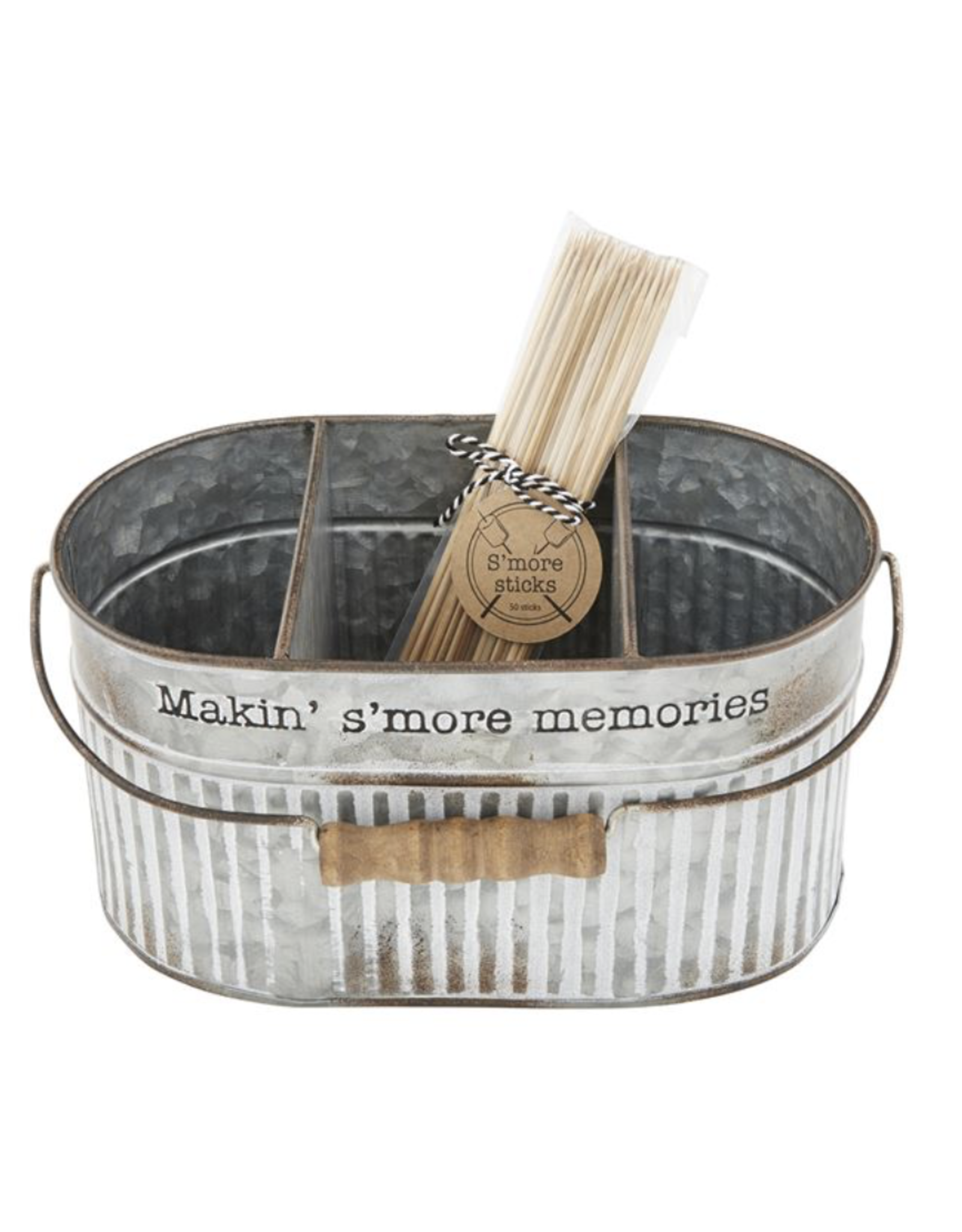 Mud Pie Tin Bucket S'more Divided