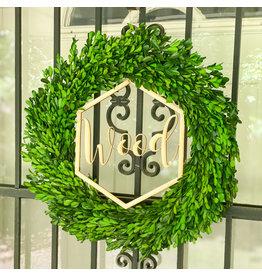 Monograms Plus Personalized Wreath Sign