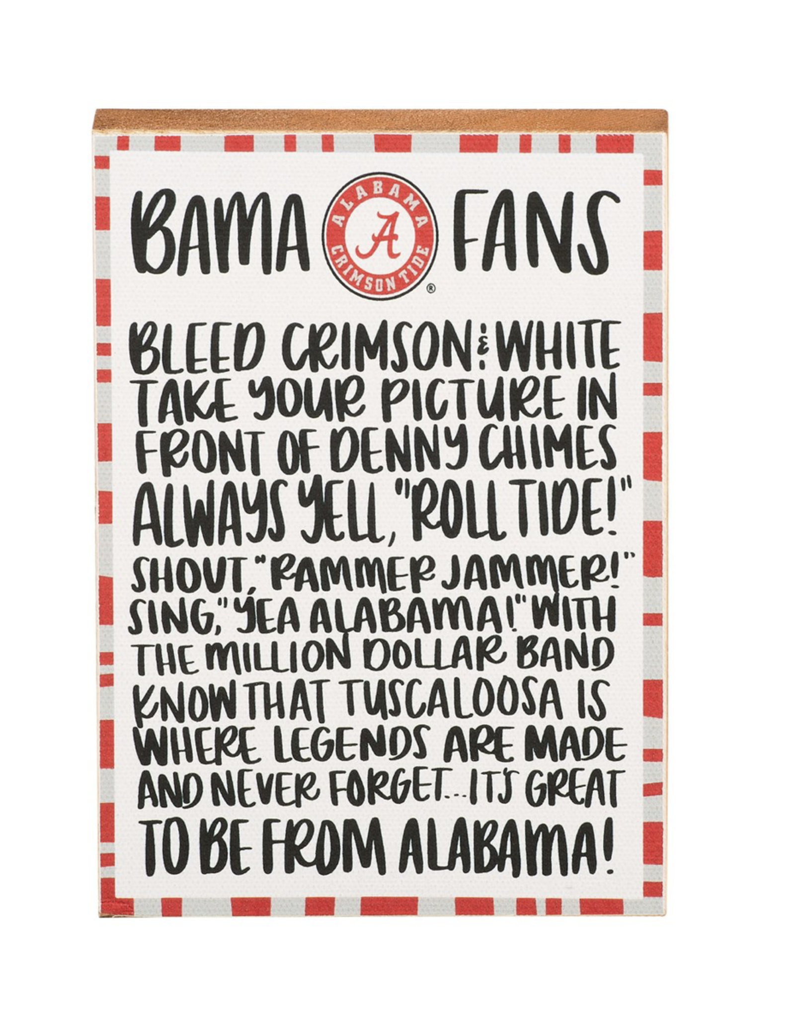 Glory Haus Block Canvas Alabama Fan