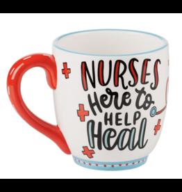Glory Haus Mug Nurses Here To Heal