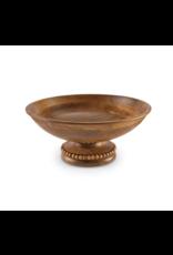 Mud Pie Serving Bowl Beaded Pedestal