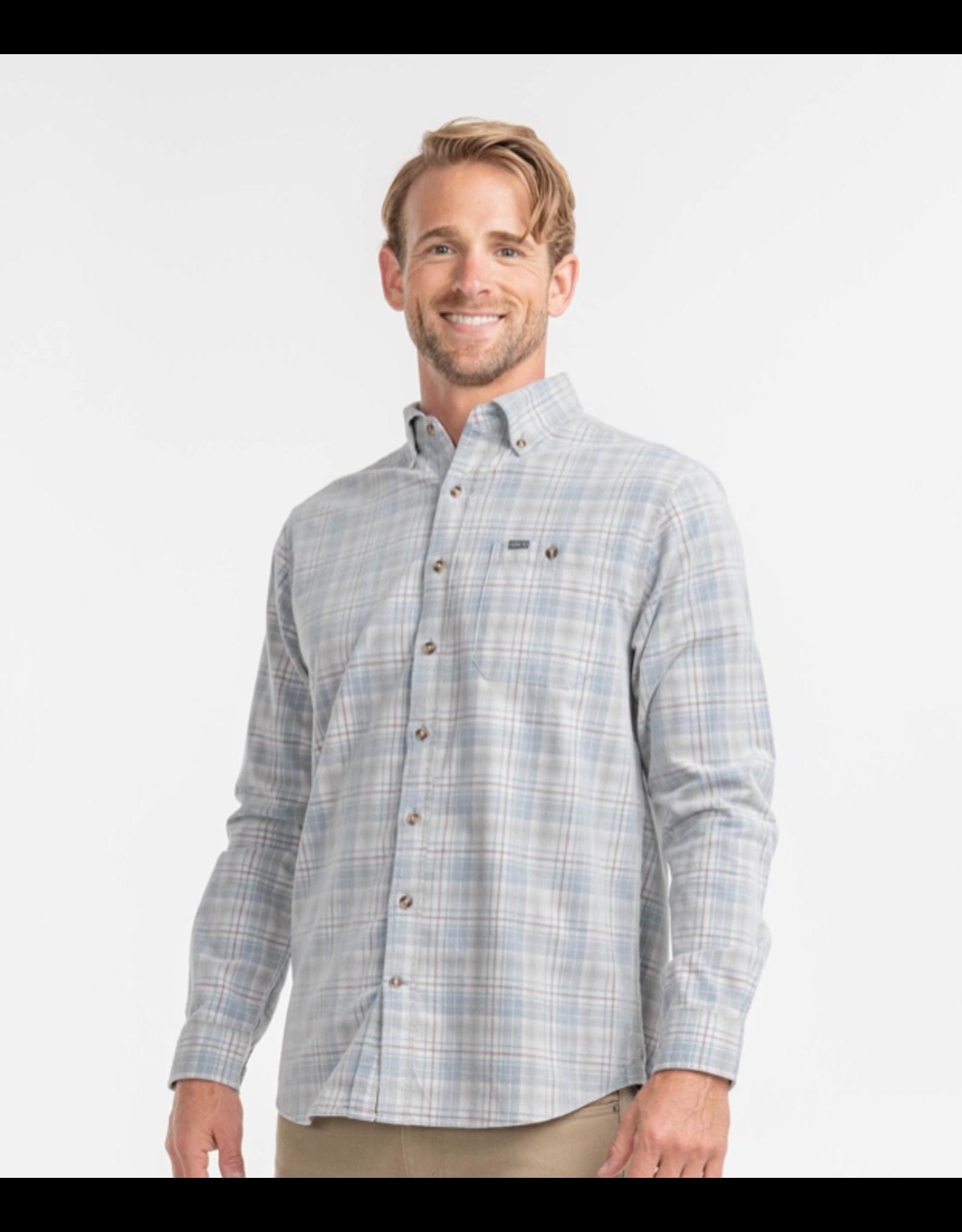 Southern Shirt Company Long Sleeve Braxton Lightweight Cord Flannel Smoky Blue