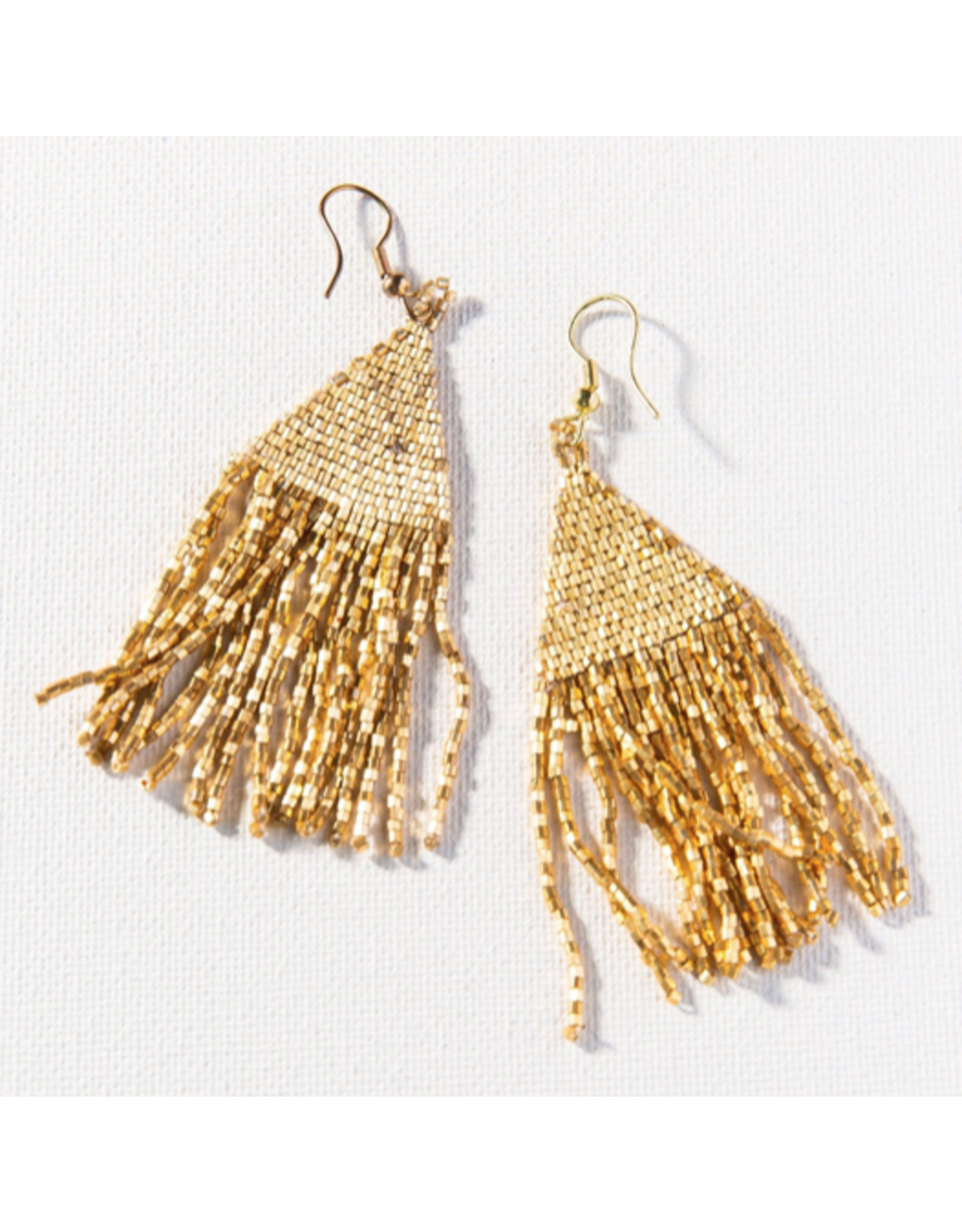 Ink + Alloy Earring Gold Luxe Petite Fringe