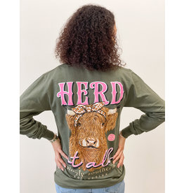Simply Southern Tee LS Herd Moss