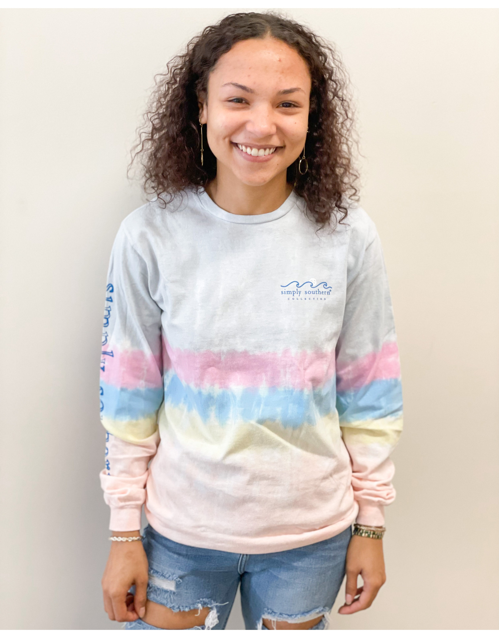 Simply Southern Tee Youth LS Mightier Confetti
