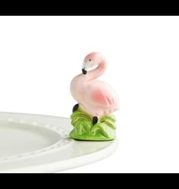 Nora Fleming Mini Tickled Pink Flamingo