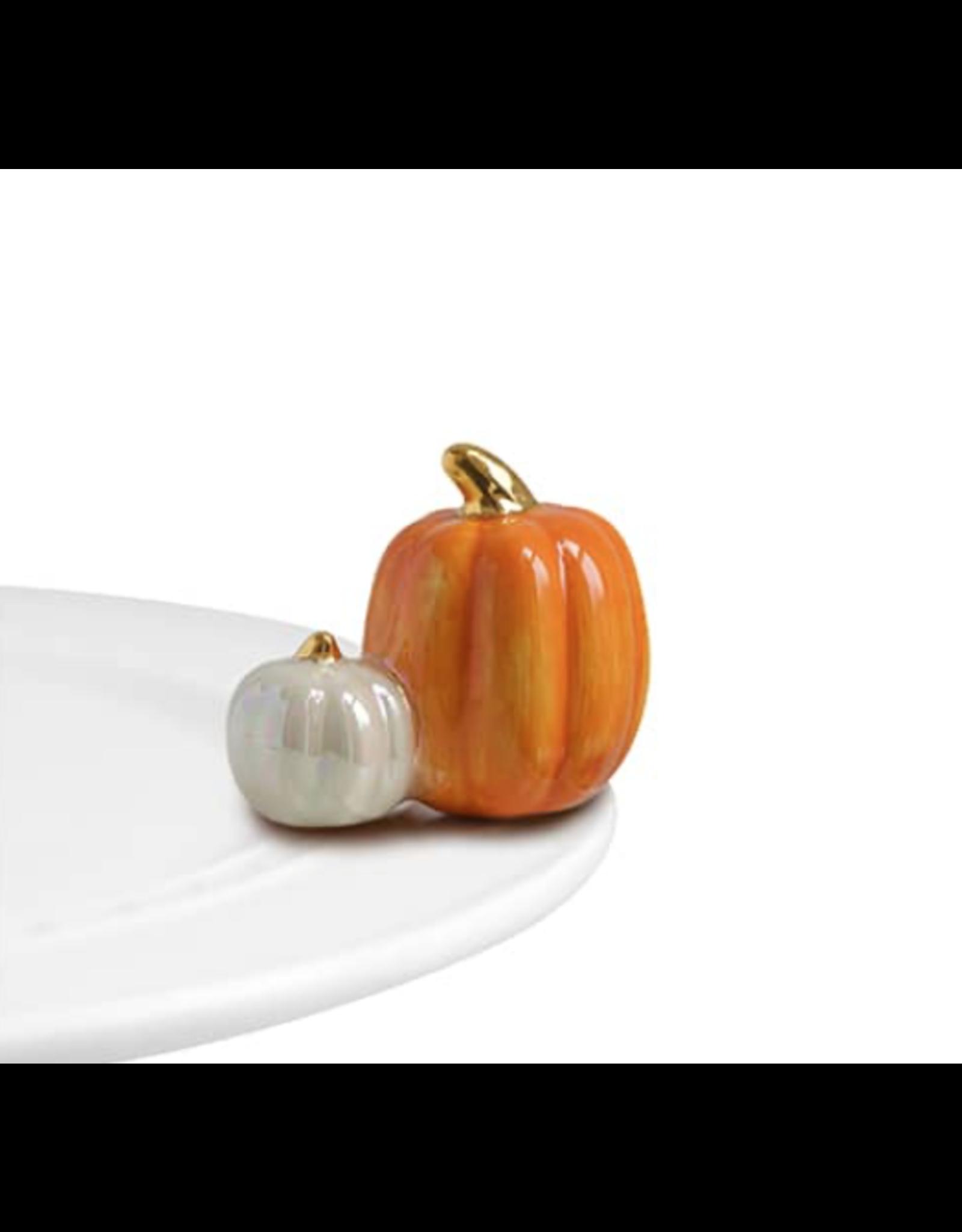 Nora Fleming Mini Pumpkin Spice (Orange & White Pumpkins)
