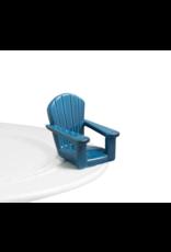 Nora Fleming Mini Chillin' Chair Blue
