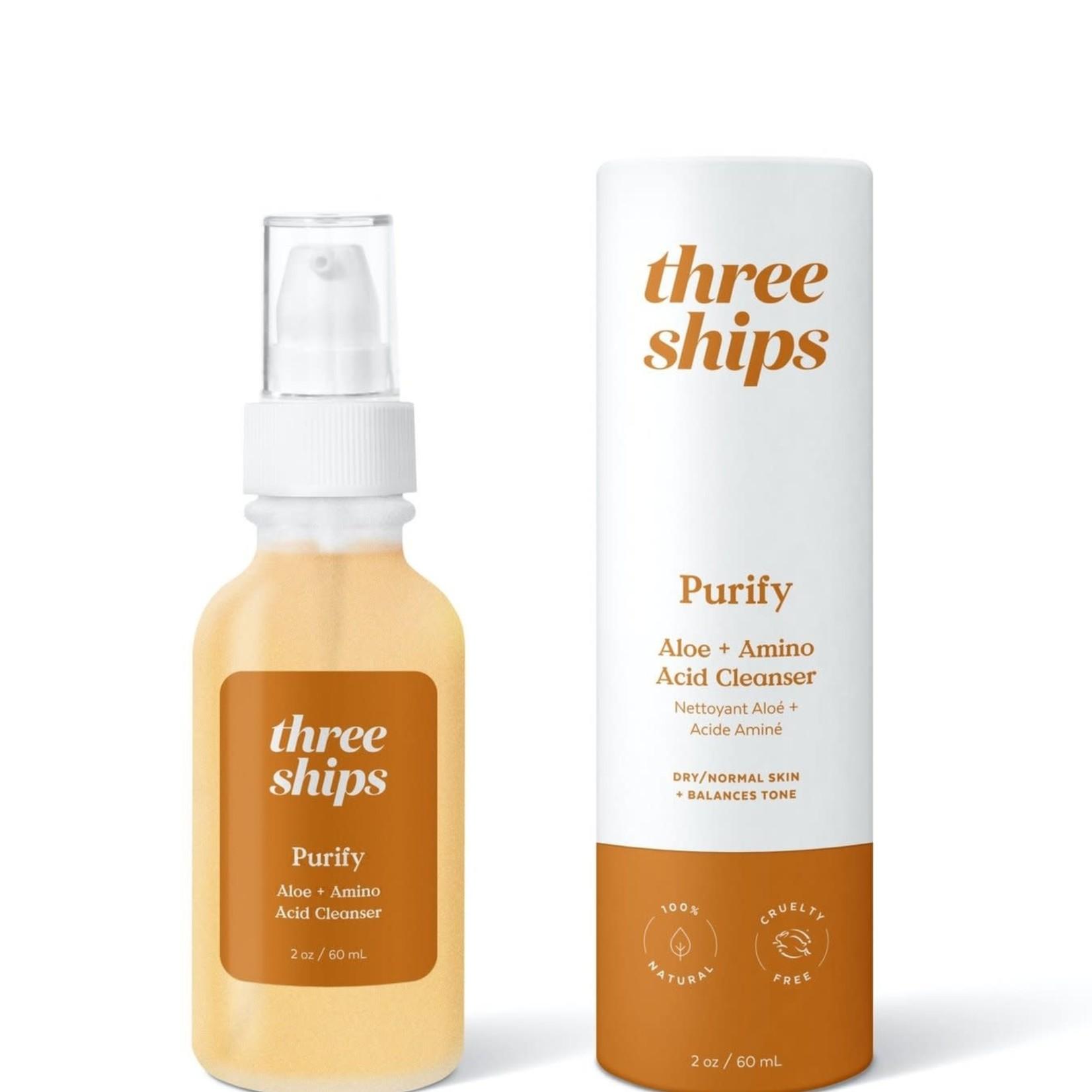 Three ships PURIFY NETTOYANT ALOÈS + ACIDE AMINÉ