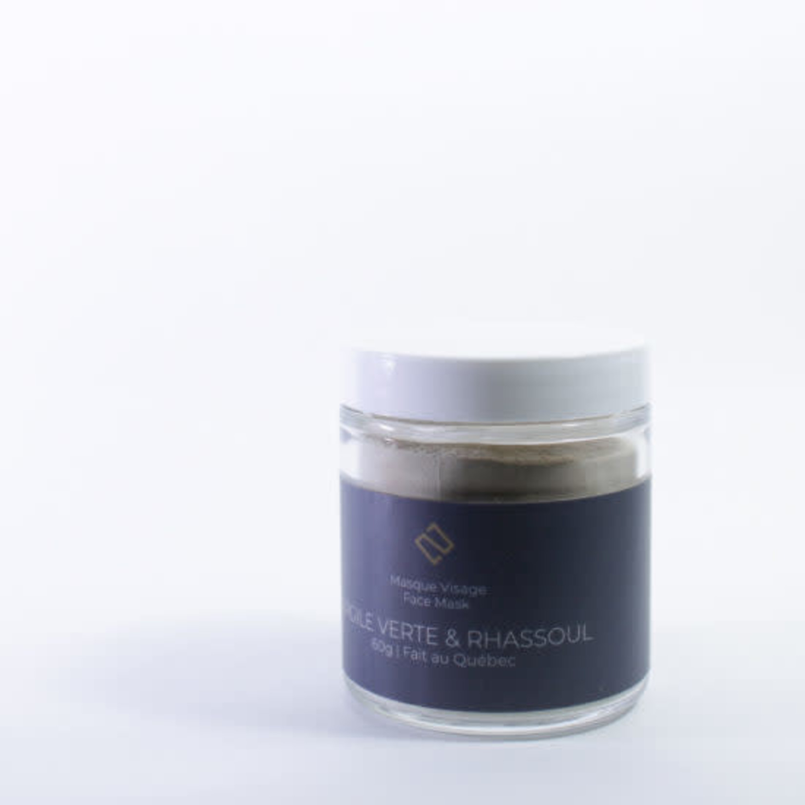 Deux cosmetiques GREEN CLAY AND RHASSOUL MASK