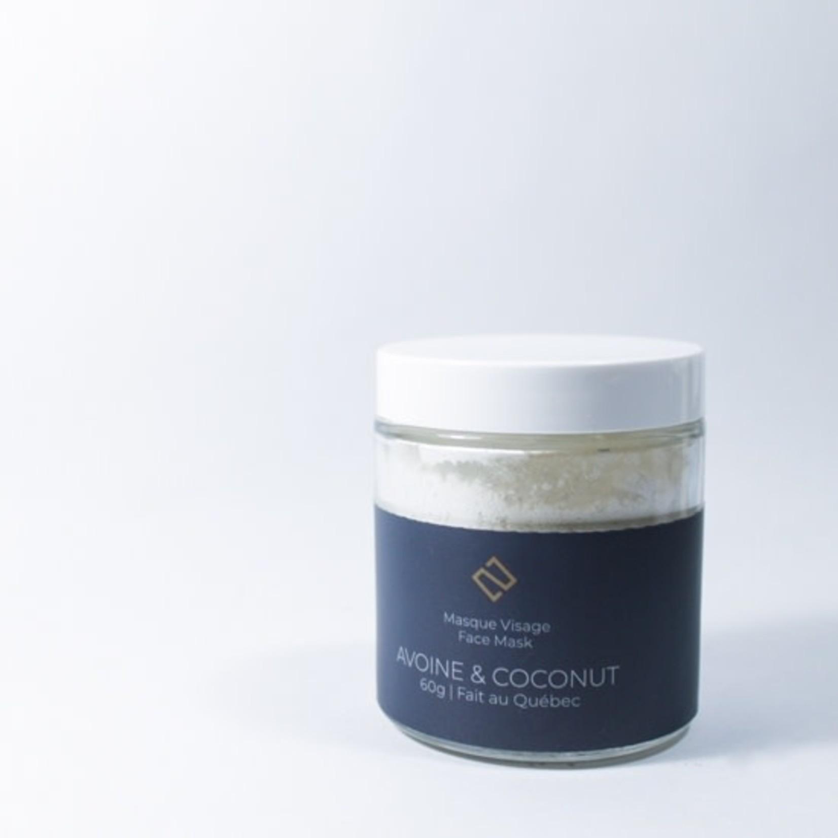 Deux cosmetiques Masque Avoine & Coconut