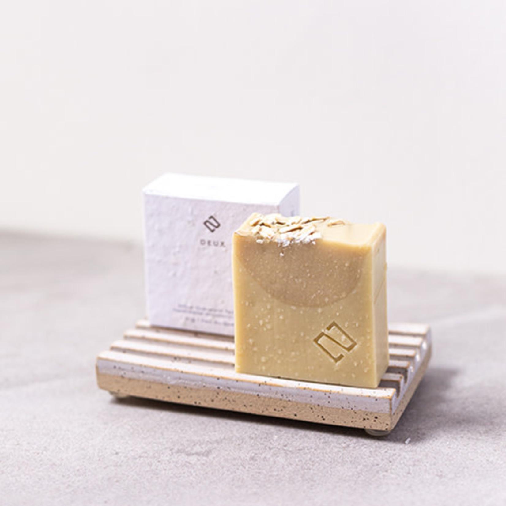 Deux cosmetiques Savon avoine et vanille