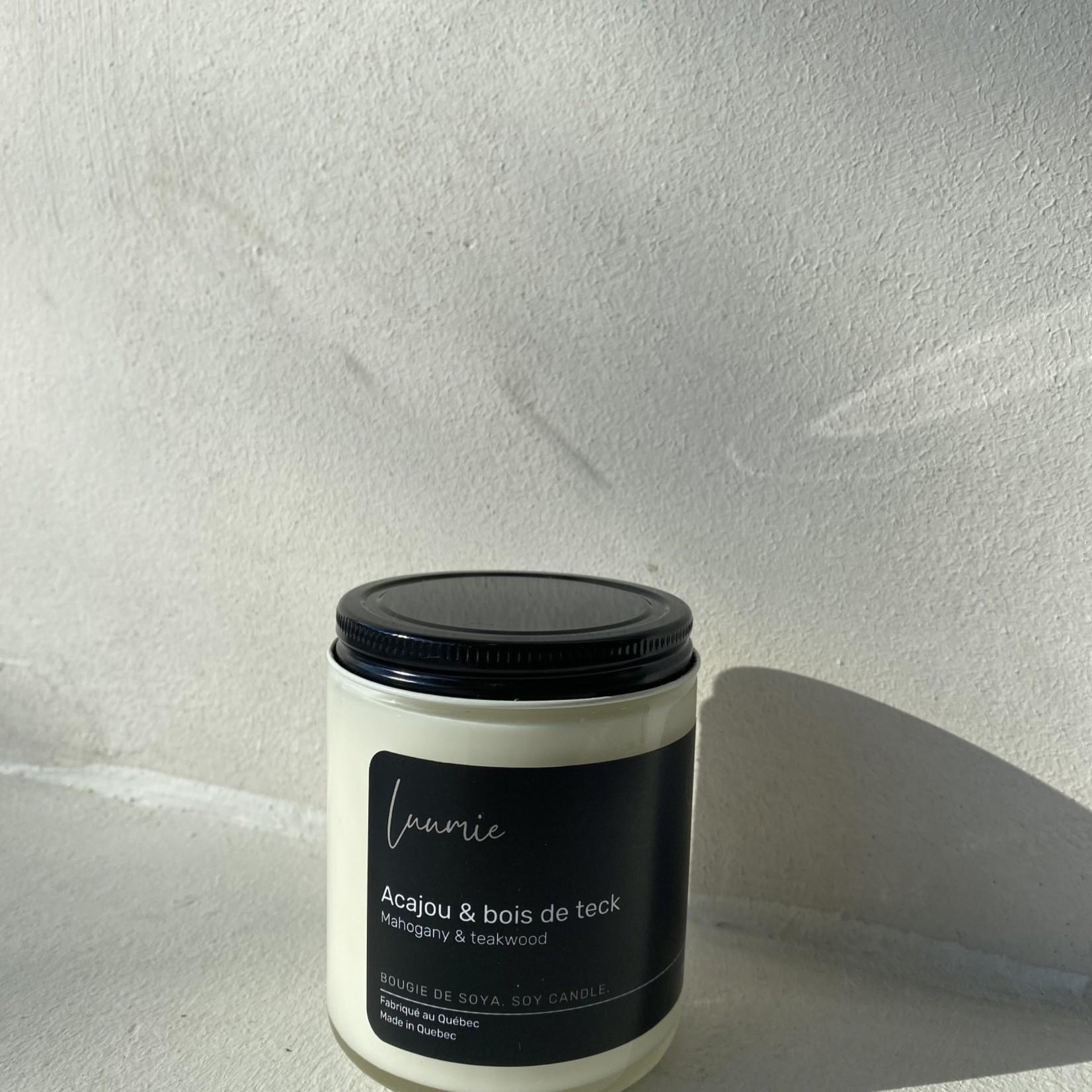 Luumie Chandelle Acajou & Bois de teck