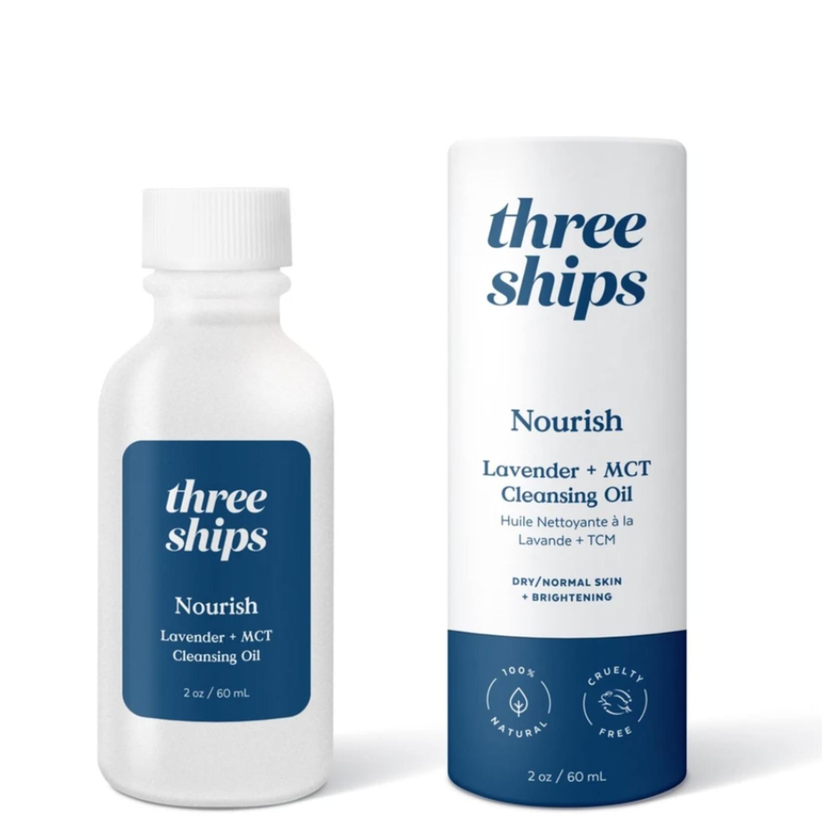 Three ships NOURISH HUILE NETTOYANTE À LA LAVANDE ET TCM