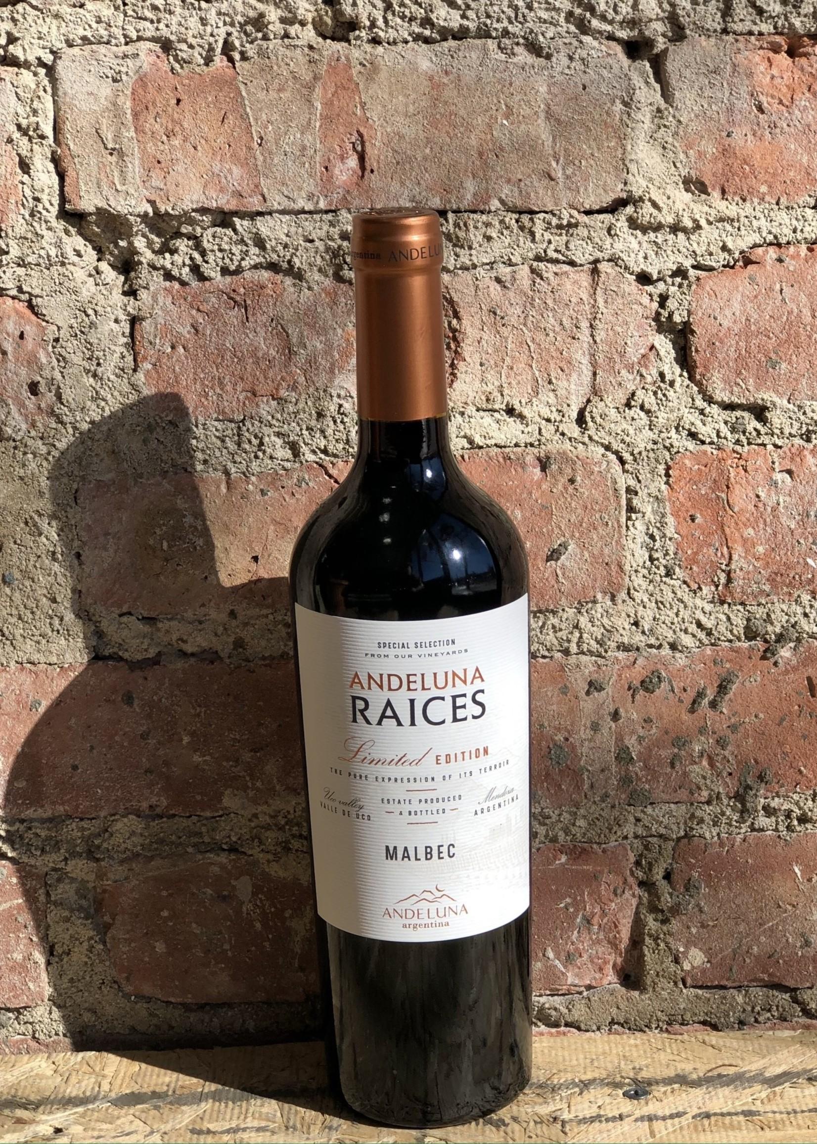 Andeluna Cellars Raices Malbec 2019 (Uco Valley, Mendoza, Argentina)