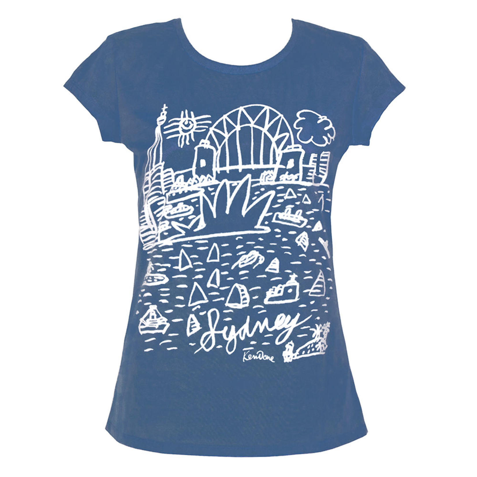 Clothing Tshirt - Fitted - Classic Sydney Blue