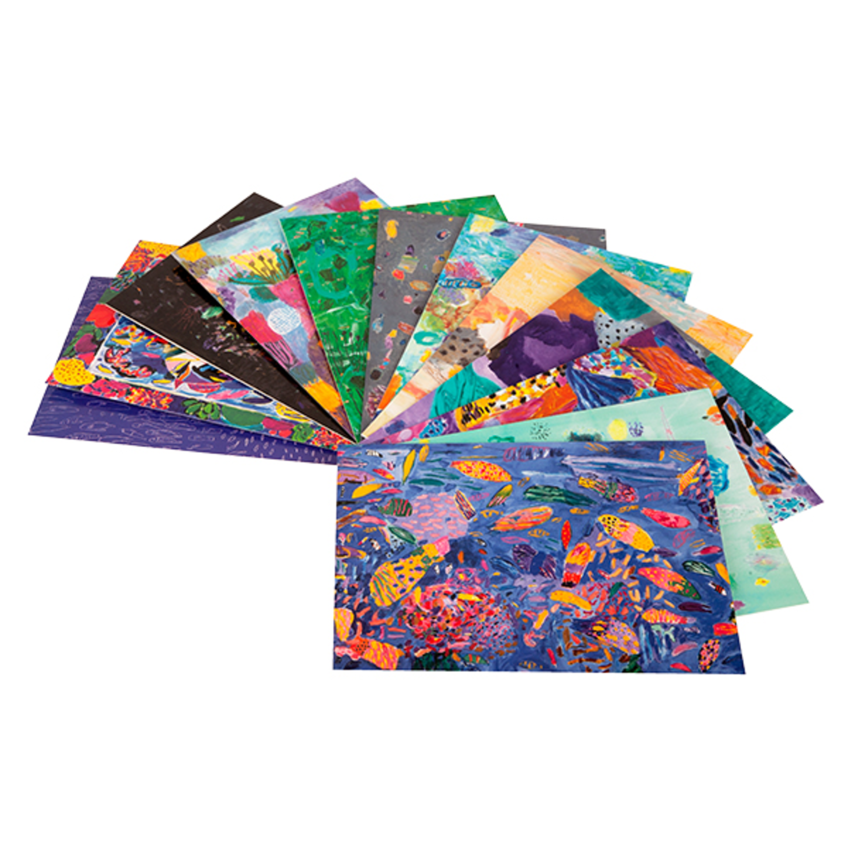 Books & Stationery Box of cards - Fish and Reef