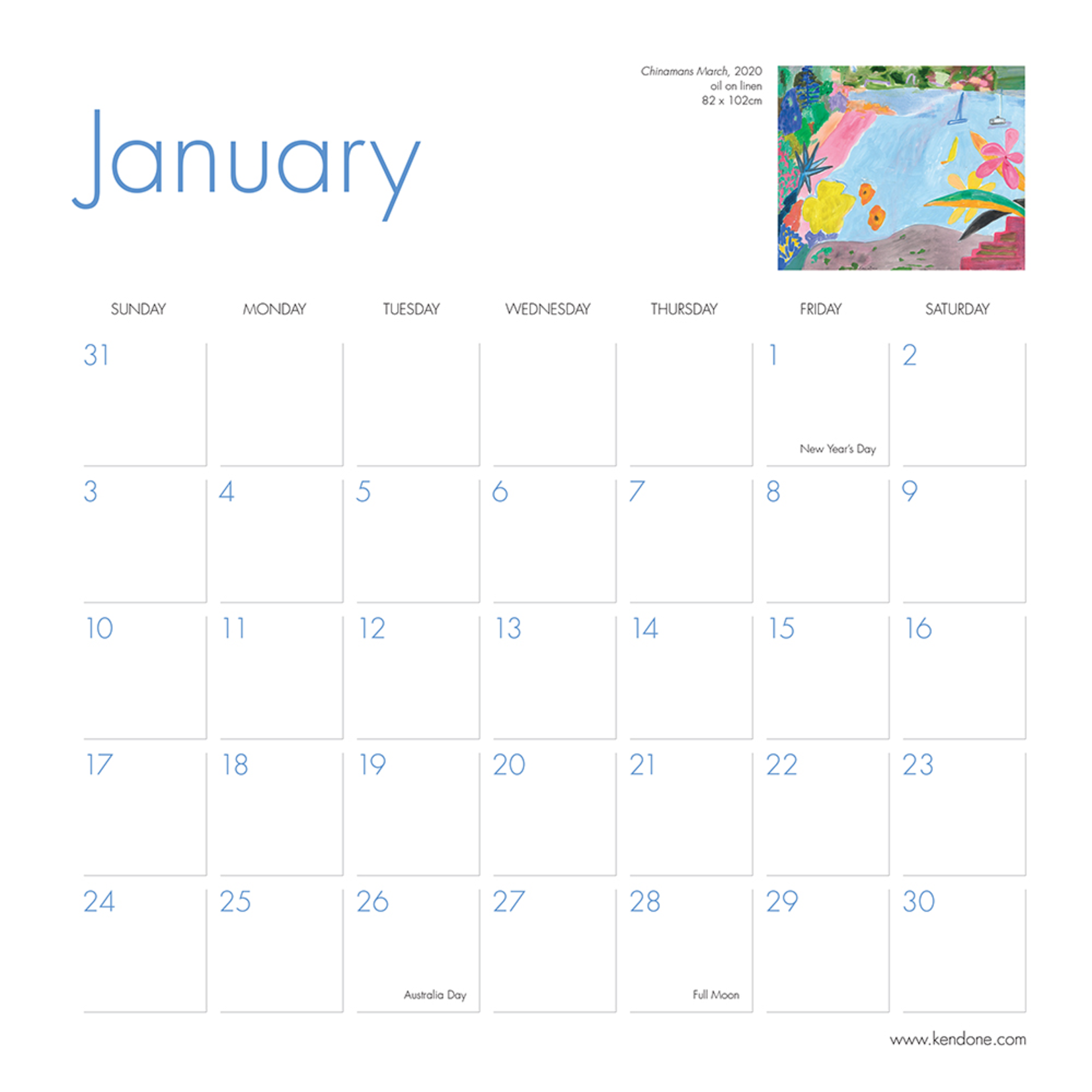 Books & Stationery Calendar 2021