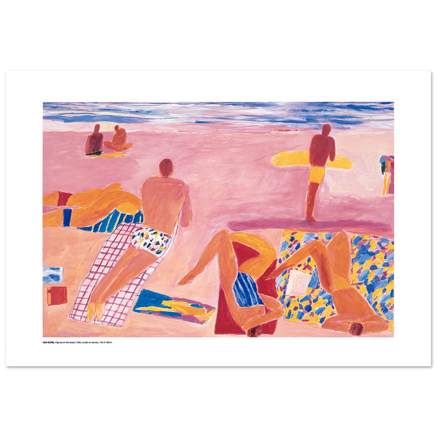 Posters Poster - Figures on the Beach