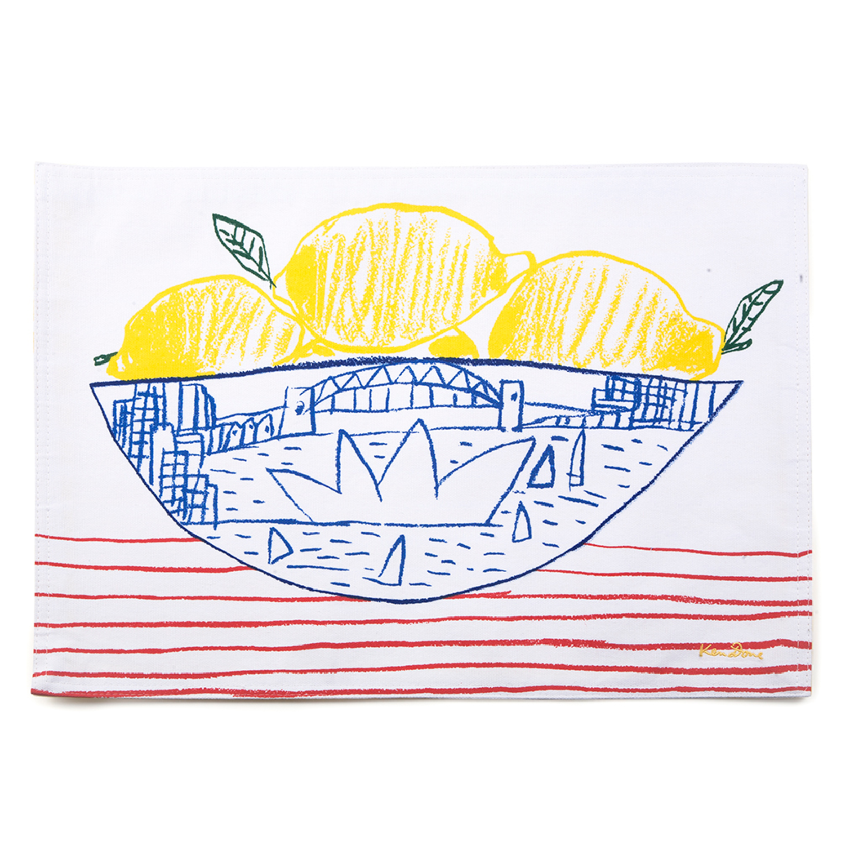 Homewares Placemats set of 2 - Sydney Bowl of Lemons