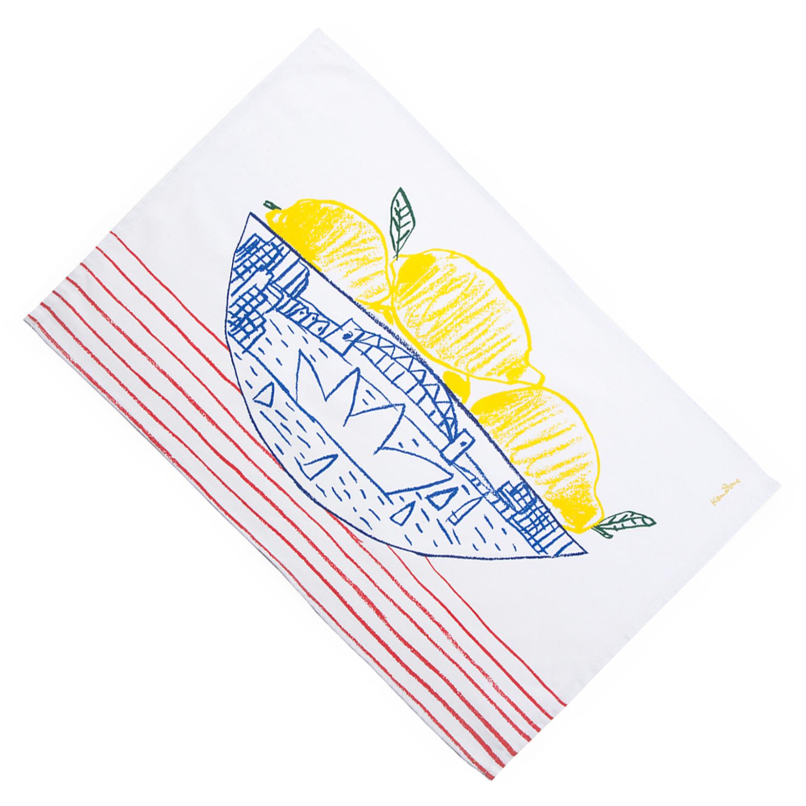 Homewares Teatowel - Sydney Bowl of Lemons