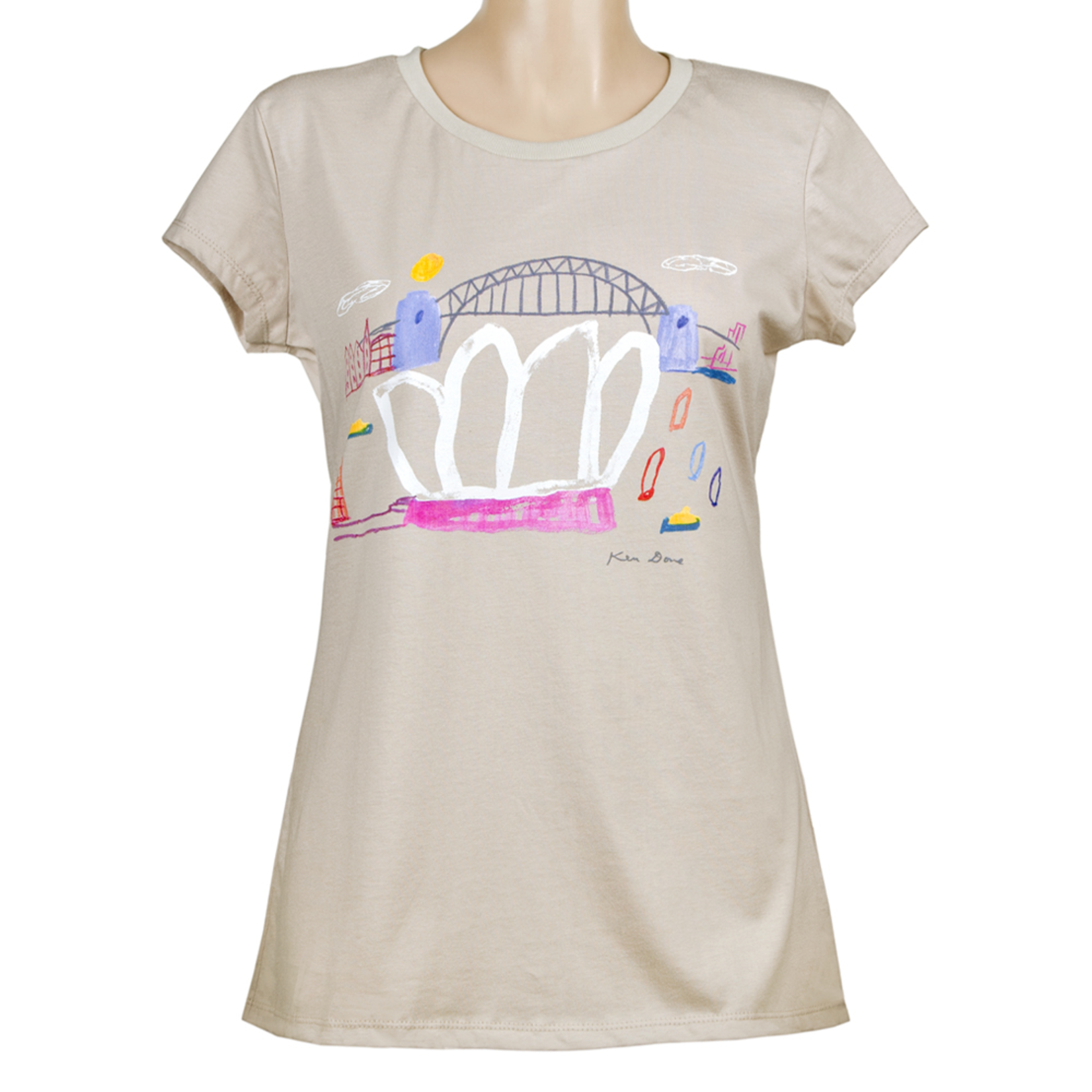Clothing Tshirt - Fitted - Sydney Coloured Sails Light Grey