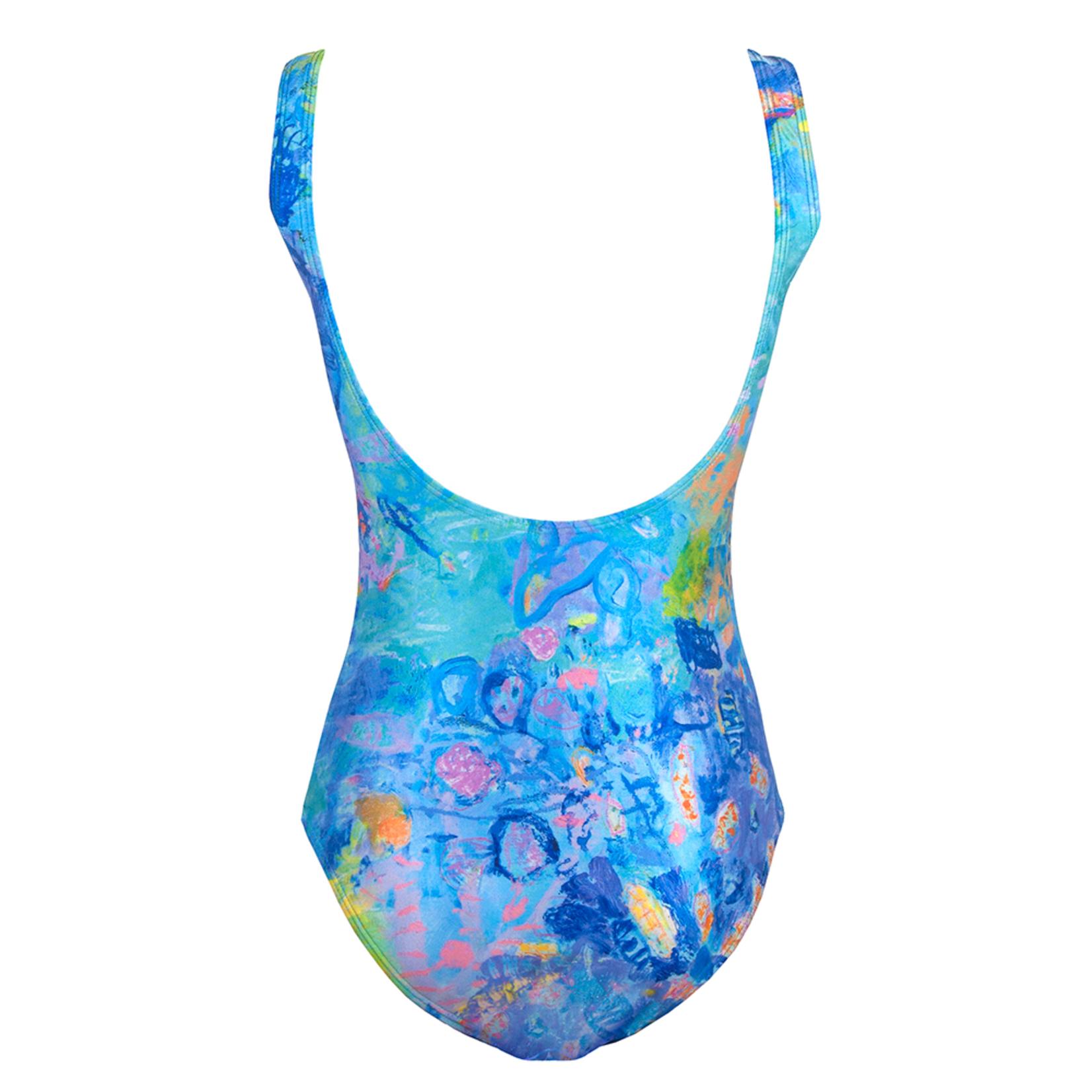 Clothing Swimwear - Turquoise Coral Head