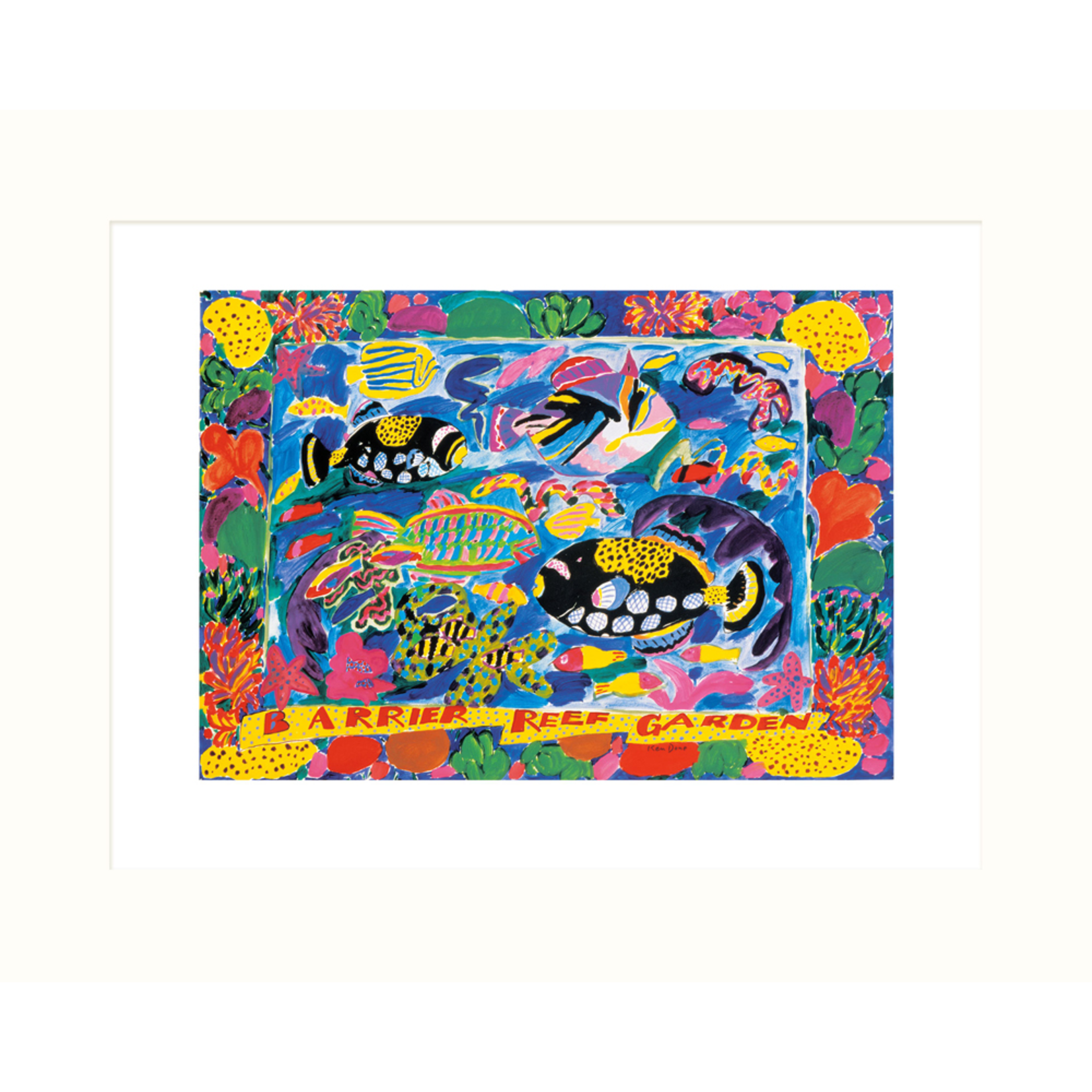 Limited Edition Prints Barrier Reef garden, 1984