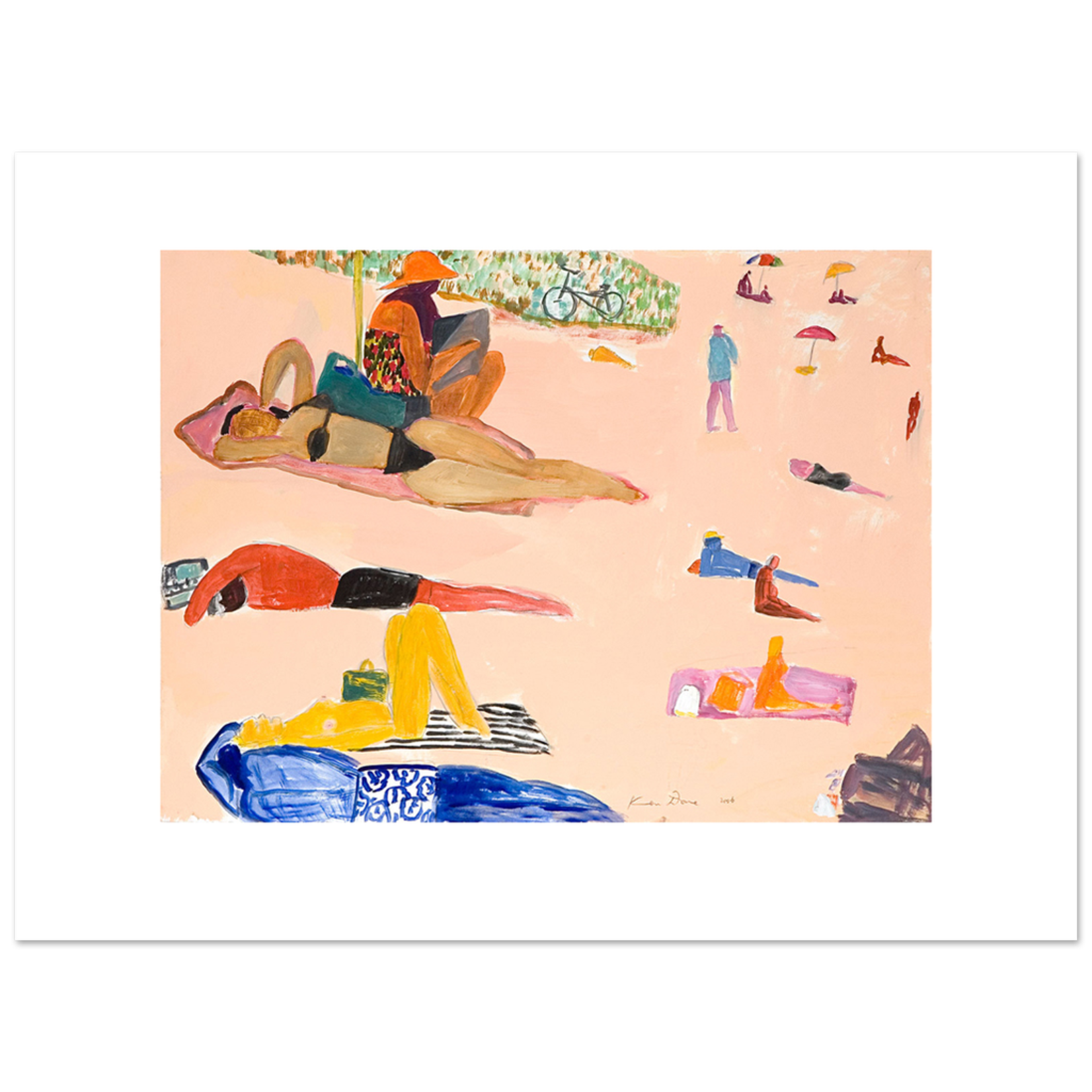 Limited Edition Prints Beach with bike, 2006