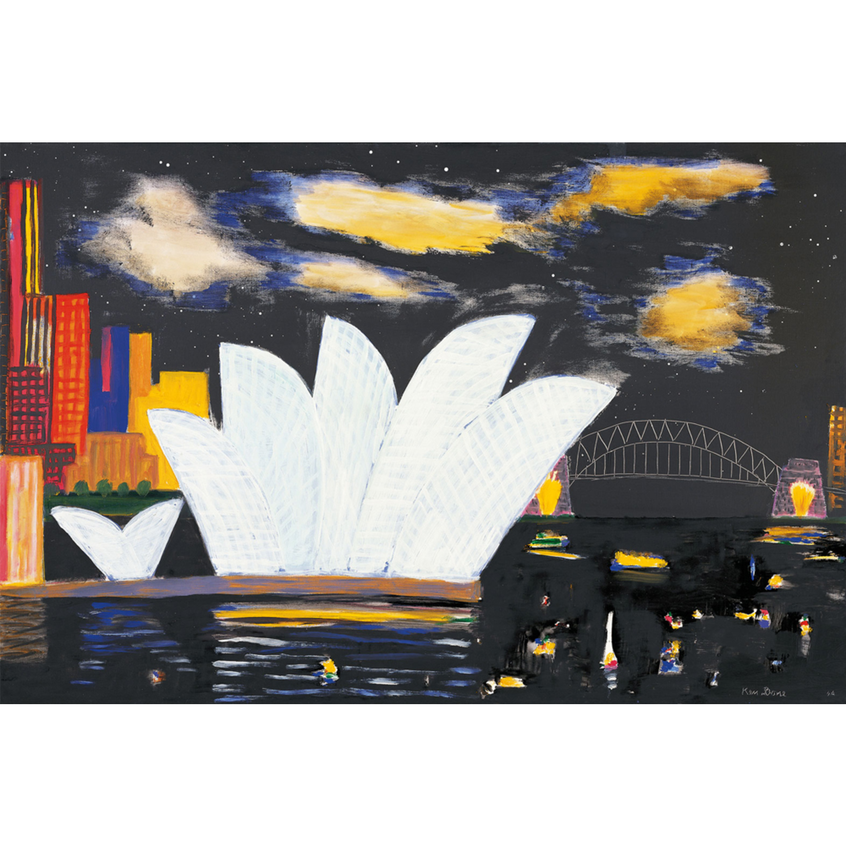 Limited Edition Prints Bridge and Opera House, night clouds, 2004