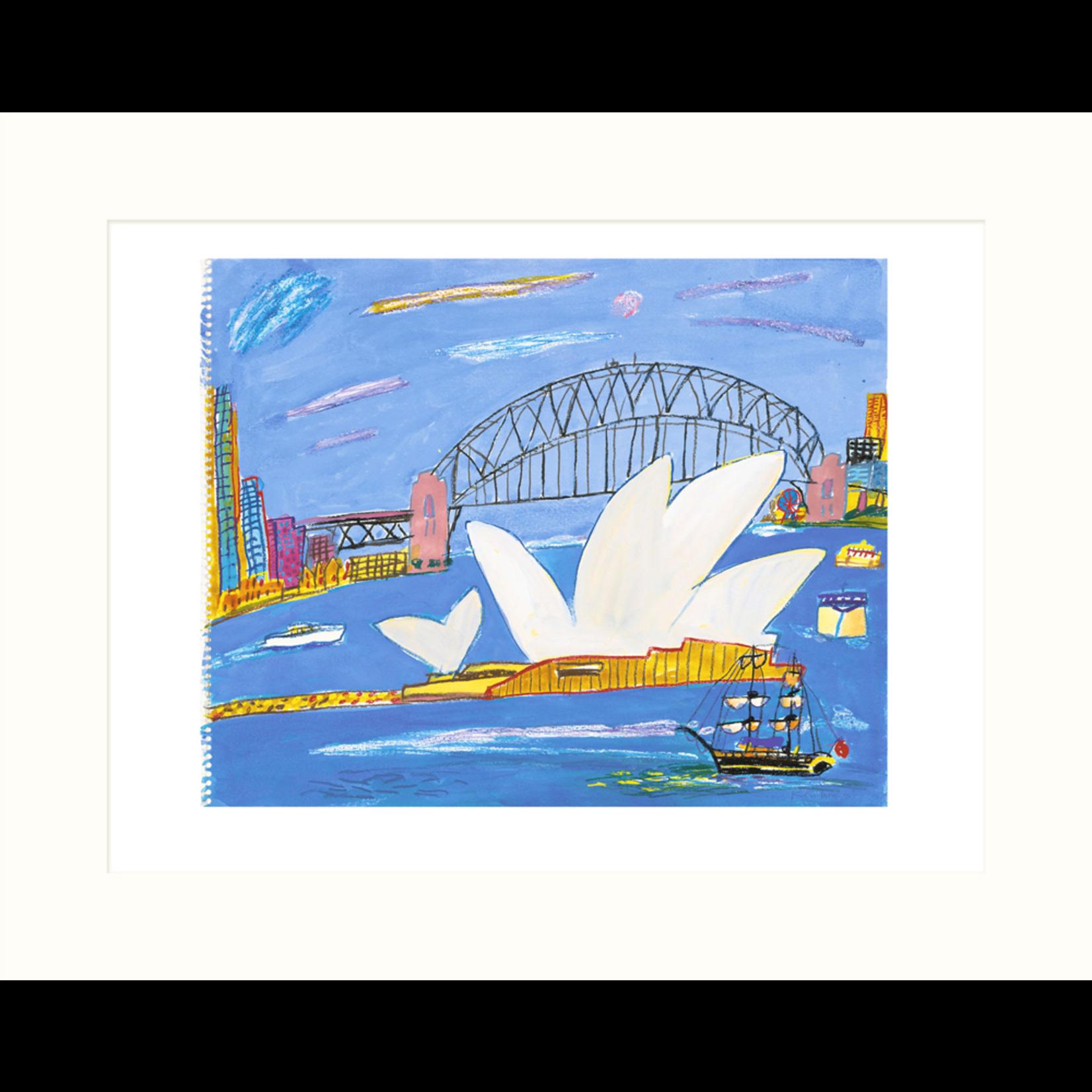 Limited Edition Prints Bridge and Opera House, sailing ship, 1995