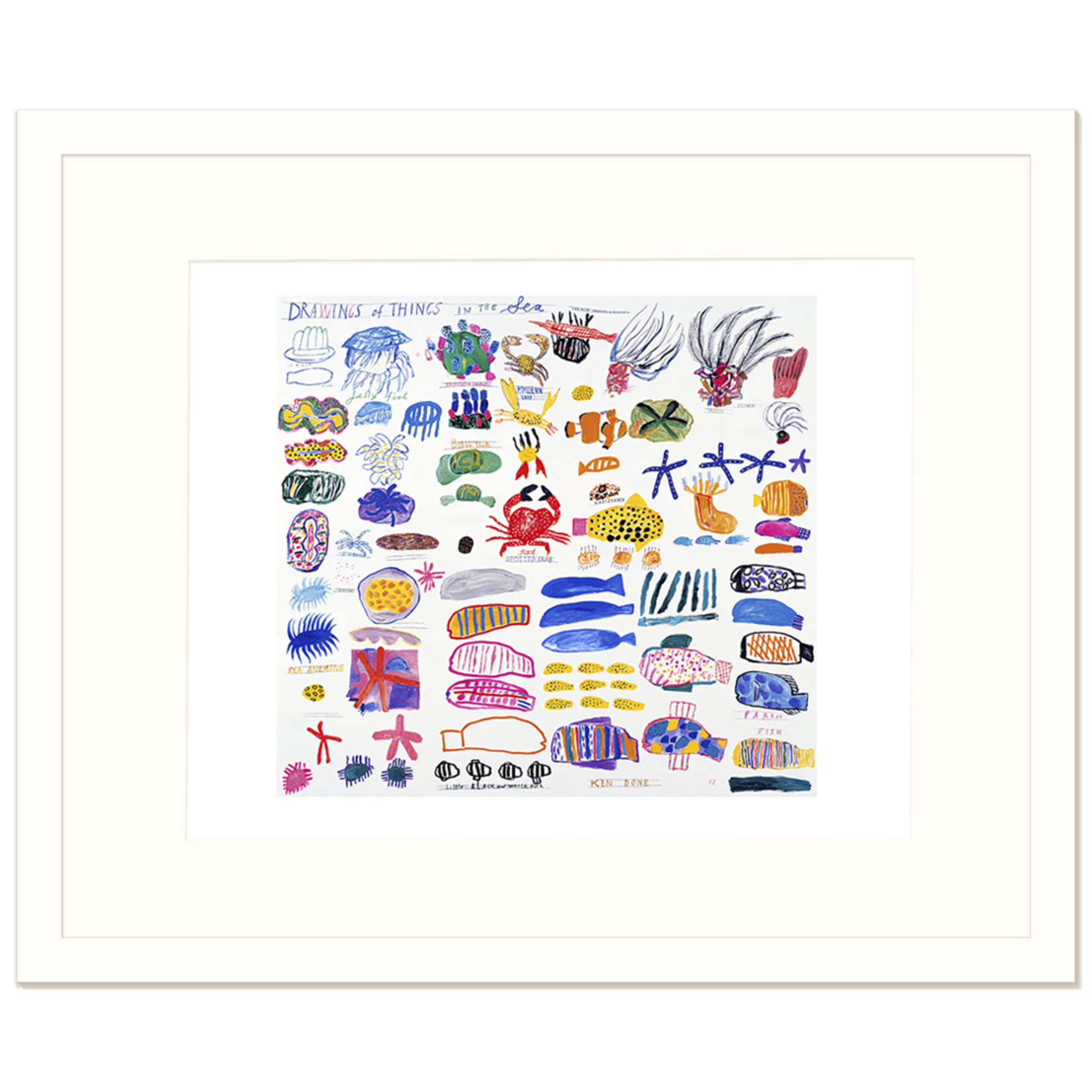 Limited Edition Prints Drawings of things in the sea, 1993