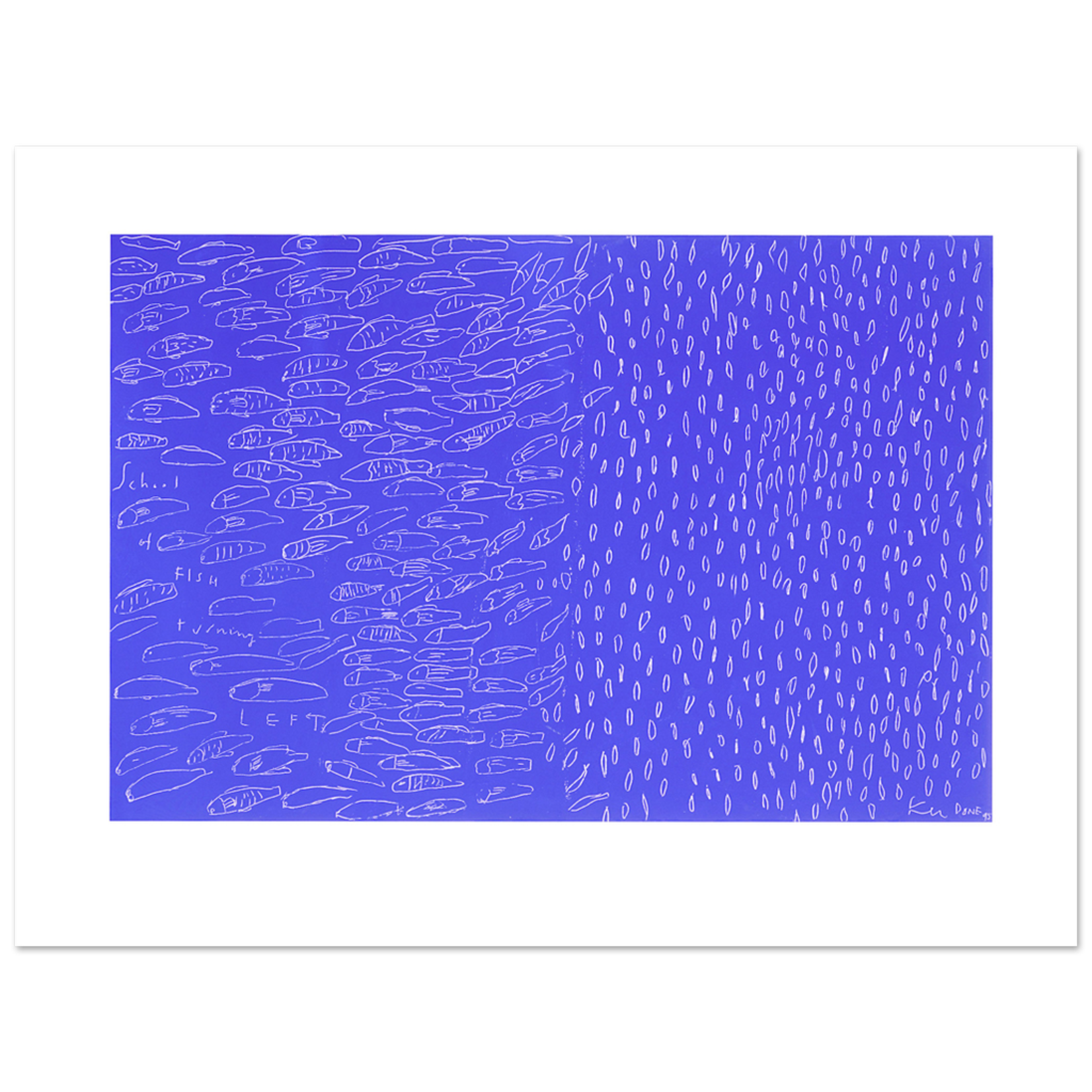 Limited Edition Prints School of fish, turning left, 1995