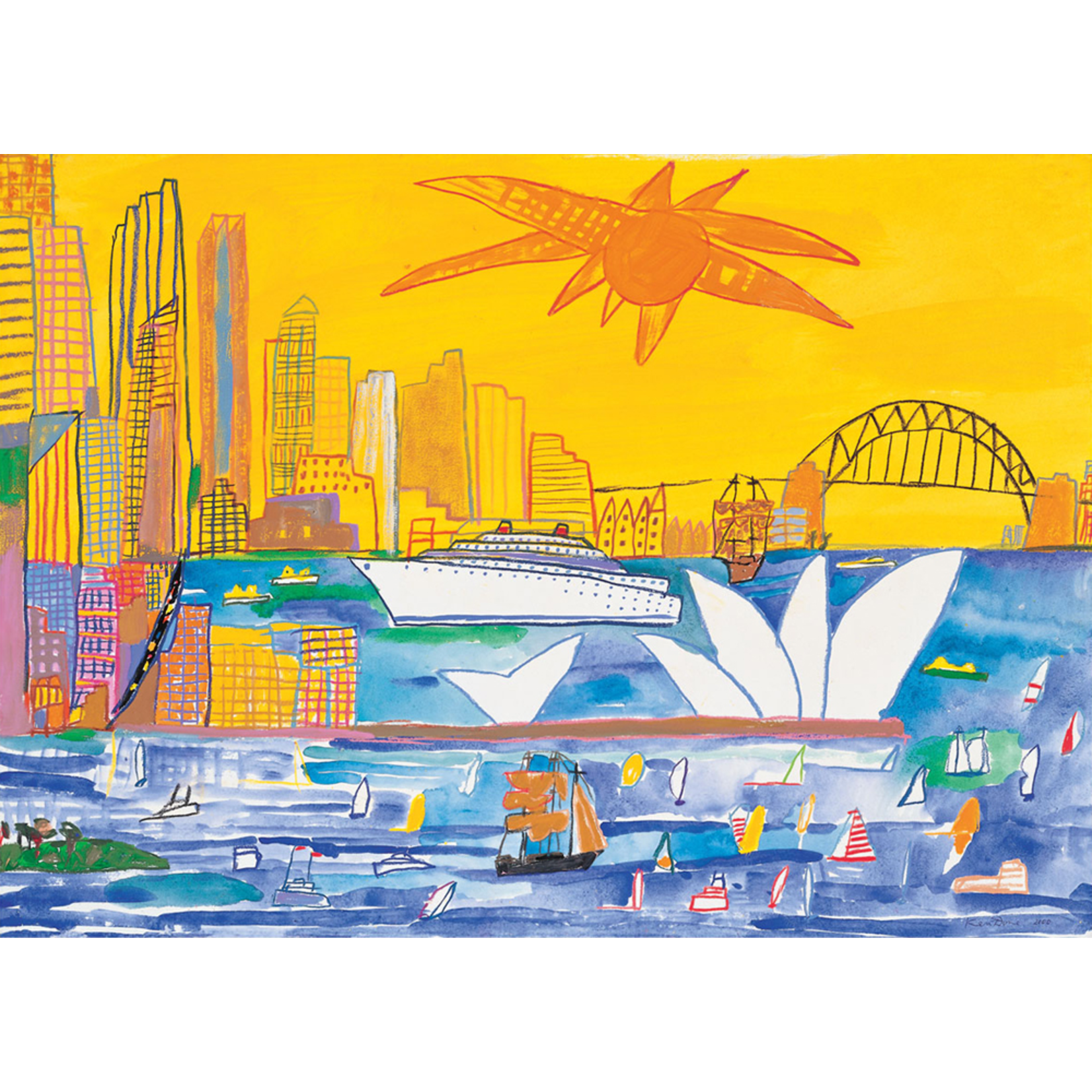 Limited Edition Prints Sydney by day, 2000