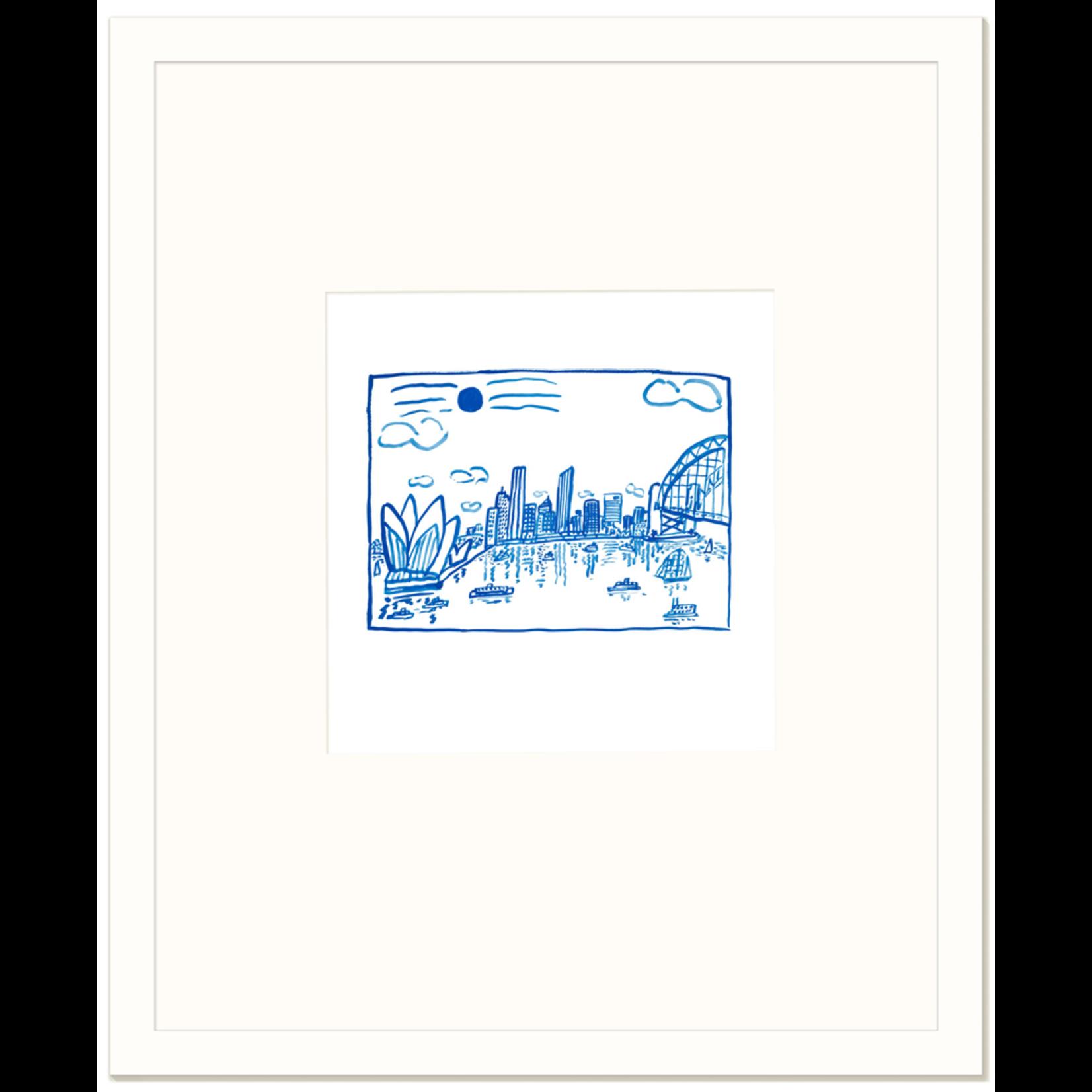 Limited Edition Prints Sydney Harbour blue, 1993