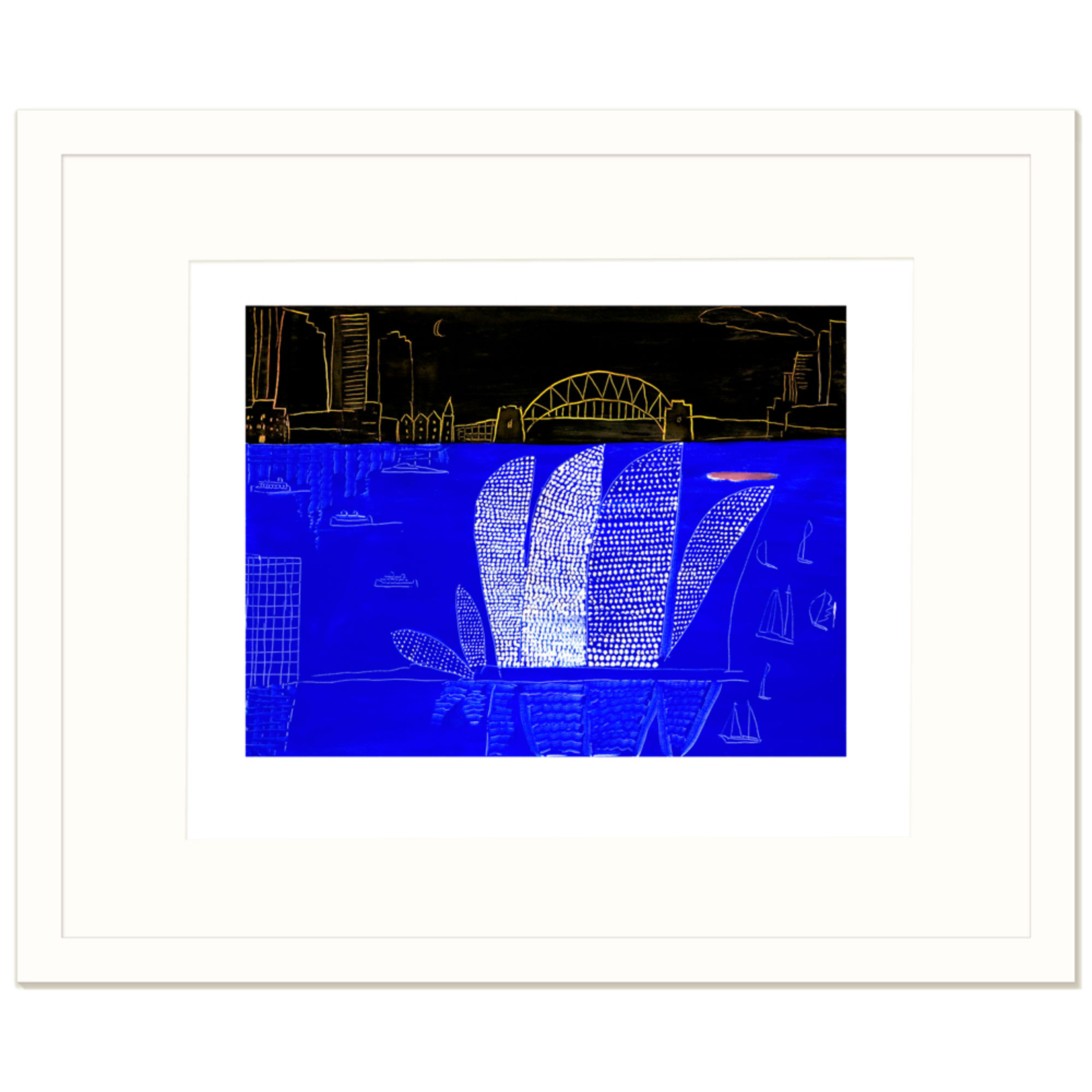 Limited Edition Prints Sydney Harbour, spotted Opera House, black sky, 2006