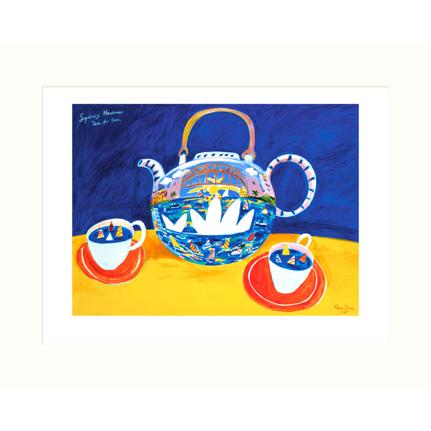 Limited Edition Prints Sydney Harbour, tea for two, 1984