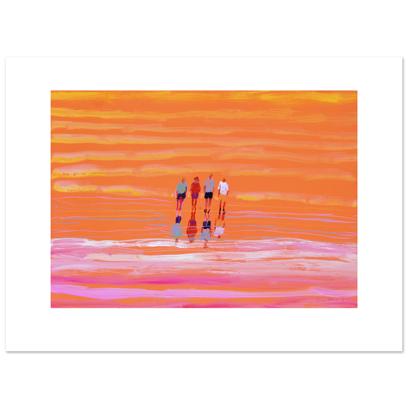 Limited Edition Prints Walking on Lake Eyre, 1997