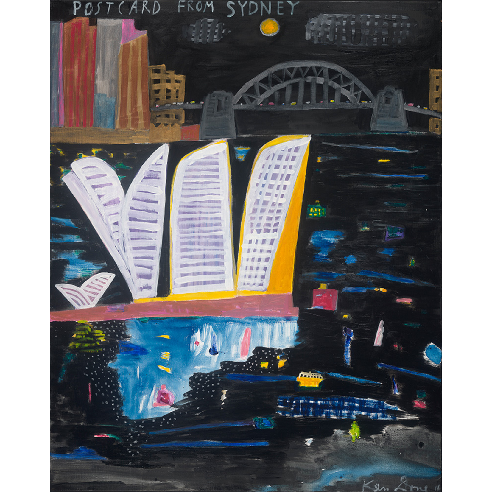 Limited Edition Prints Postcard from Sydney, full moon, 2016